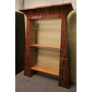 LV 17 coppia di librerie Art Decò lastronate in legno di palissandro