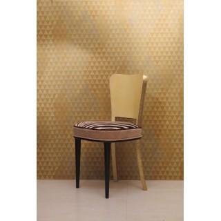 SD 52  gruppo di sei sedie rivestite in pergamena e ottone