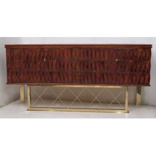 CR 138  Credenza in legno di ciliegio e gambe in ottone