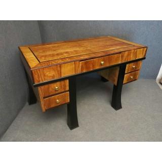 scrivania in radica di olivo frassinato