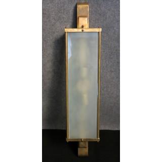 Coppia di appliques in vetro acidato