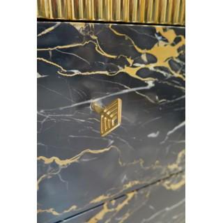 N 3 Magnifico Comò in marmo e ottone