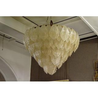 L64  Lampadario in vetro di Murano color oro
