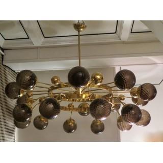 L 69  lampadario in ottone...