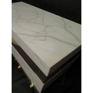 N 9 Comò in marmo bianco