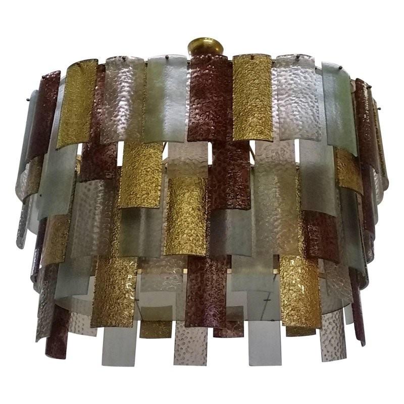 L 71  lampadario veneziano di forma ovale, Murano 1970