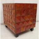 P 113  Coppia di importanti poltrone art decò lastronate in legno di frassino