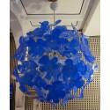 "L 72   lampadario "" Sputnik"" in vetro di Murano color blu"