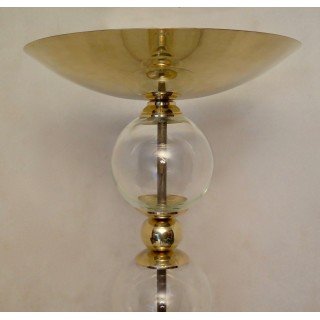 PI49  Piantana in vetro di Murano e ottone