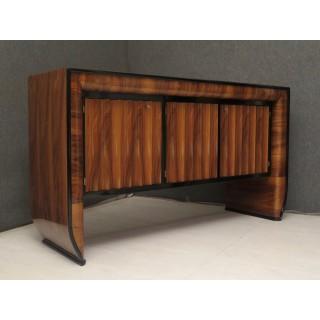 CR 150  Credenza  art decò lastronata in legno di noce