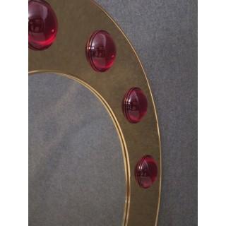 SP 30  Specchio di forma rotonda rivestito in ottone