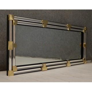 SP 32  Specchio rettangolare in vetro di murano e ottone