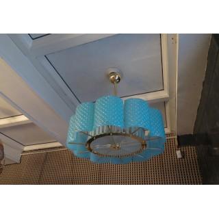L 78  Lampadario in vero di Murano e ottone