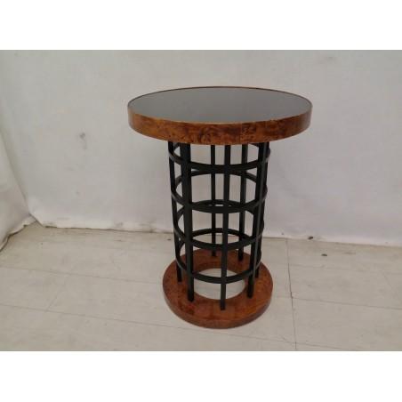 T 161  Coppia di tavolini art decò in legno di tuja