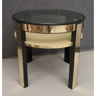 T 162  Tavolino art decò in lacca nera