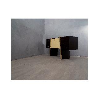 CR 148  Credenza art decò lastronata in legno di ebano macassar