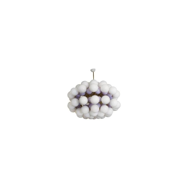 L 82 Lampadario di Murano color Bianco e Lilla