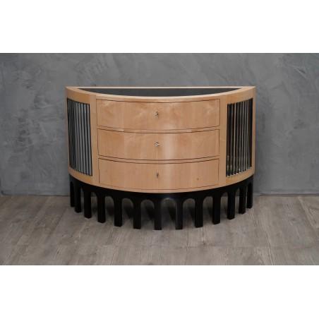 C 105 Cassettiera dalla forma semicircolare
