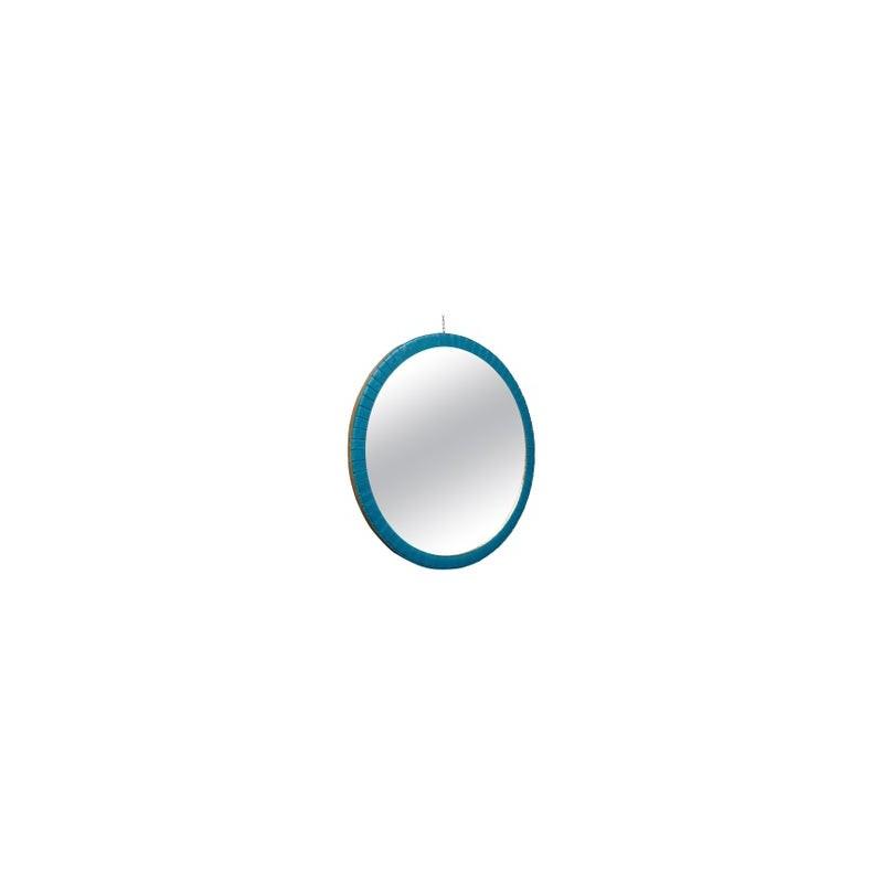 Specchiera Rotonda di Colore Azzurro
