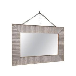 V 11 Specchio di Murano rettangolare di color bianco