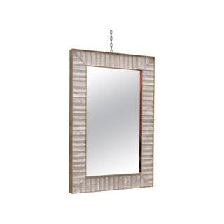 V 12 Coppia di piccoli specchi rettangolari di color bianco