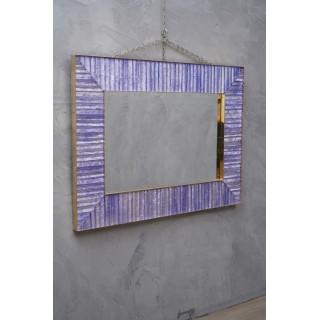 V 13 Specchio in vetro di Murano rettangolare di color pervinca