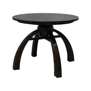 T 144 Coppia di tavolini in lacca nera