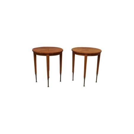 T 132  Tavolini lastronati in legno di limone