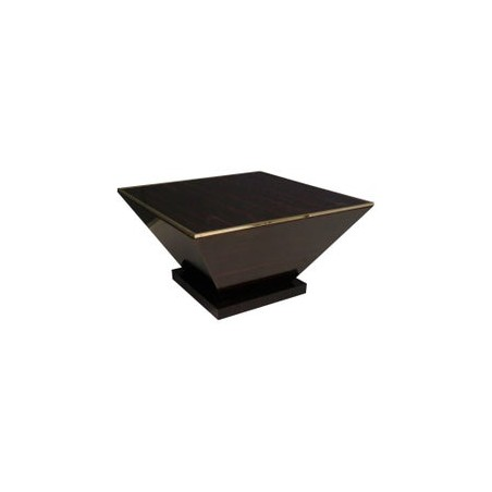 T 153 Tavolino da salotto lastronato in ebano macassar