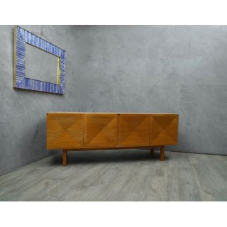 CR162 Credenza in legno di frassino con rifiniture cromate