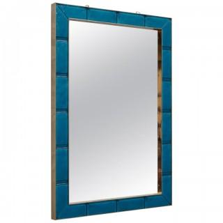 SP 34 Specchio in vetro di Murano di colore azzurro