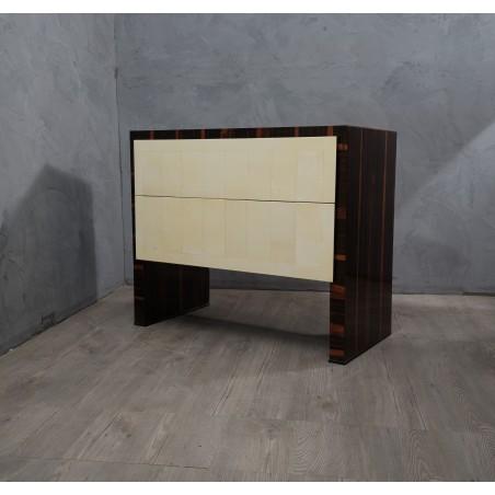 C 116 Coppia di Cassettoni impiallacciati in legno di macassar
