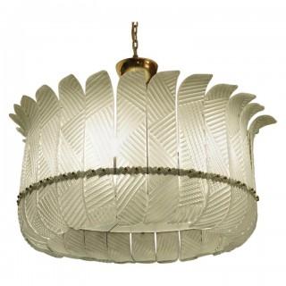 L 90 lampadario di Murano color verde acqua