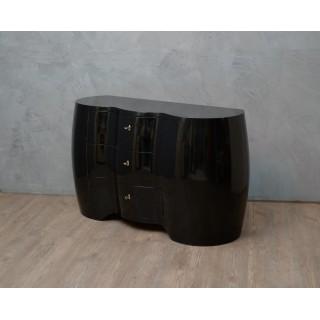 C 117 Cassettone in lacca nera
