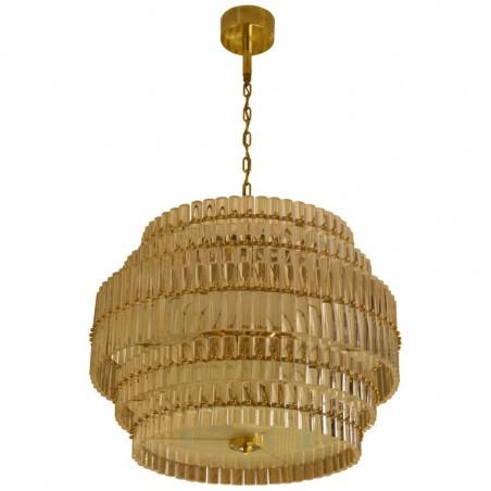 L 91 Lampadario in vetro di Murano color cristallo