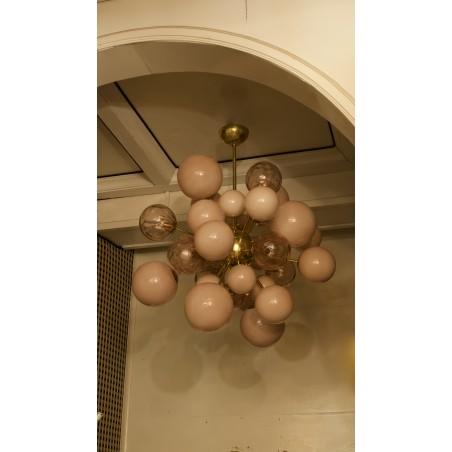 """L 92 Splendido """"sputnik"""" in due diverse tonalità e qualità di vetro"""