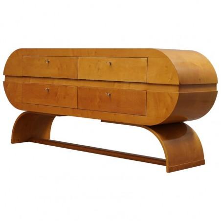 C 118 Grande cassettone lastronato in legno di acero