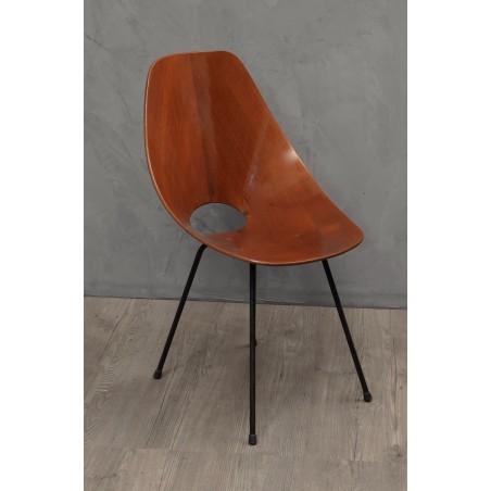 SD53  Set di quattro sedie in legno curvo
