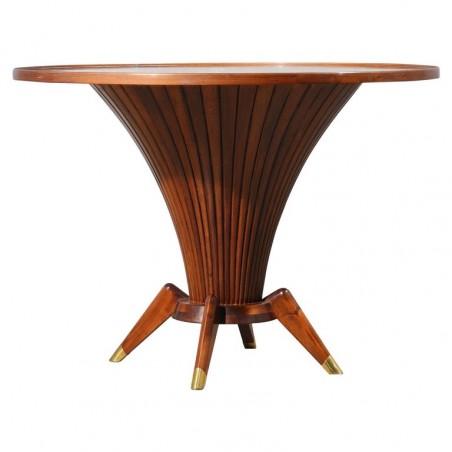 TV 46  Particolare tavolo da centro lastronato in legno di ciliegio