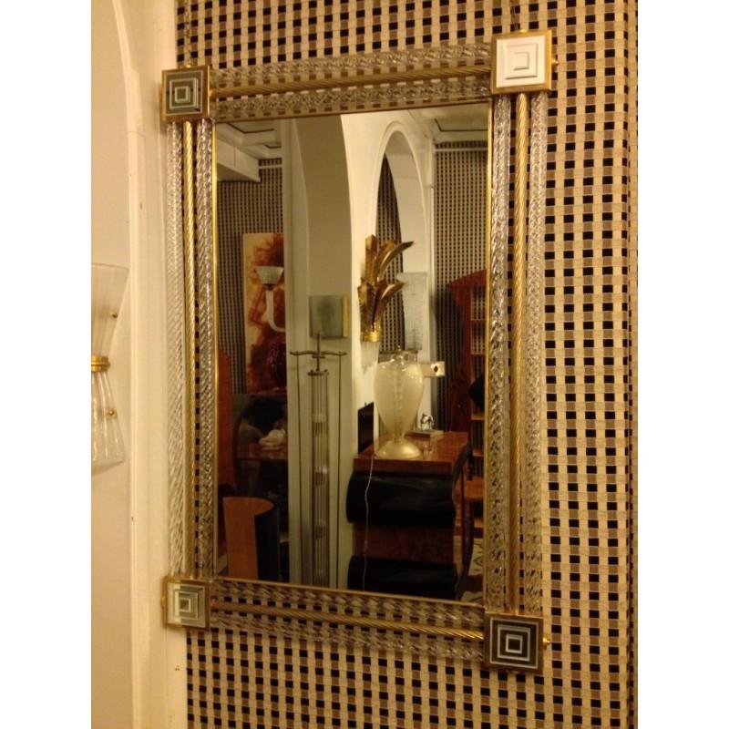 Coppia di specchiere  di murano art deco